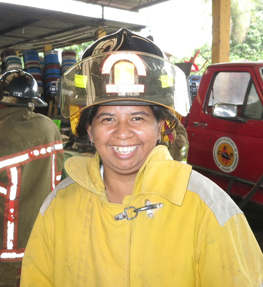 Fabiola Portillo Gaetán, 34 years old, 9 years as a volunteer, she is also a nurse