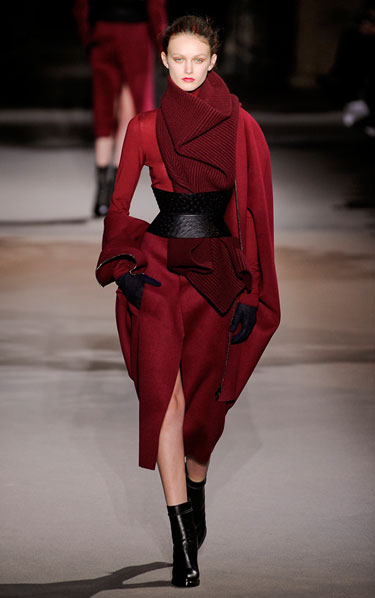 Oxblood Wool / NYFW 2013 - Ackerman