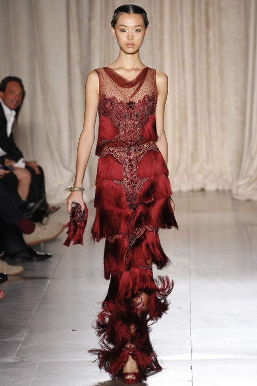 Fabulous Red Flapper / NYFW 2013 - Marchesa