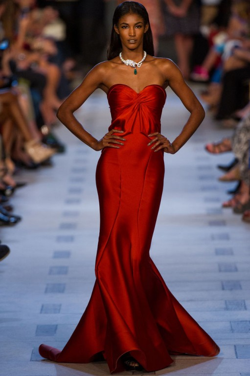 Glamorous Red Silk / NYFW 2013 - Naeem Khan