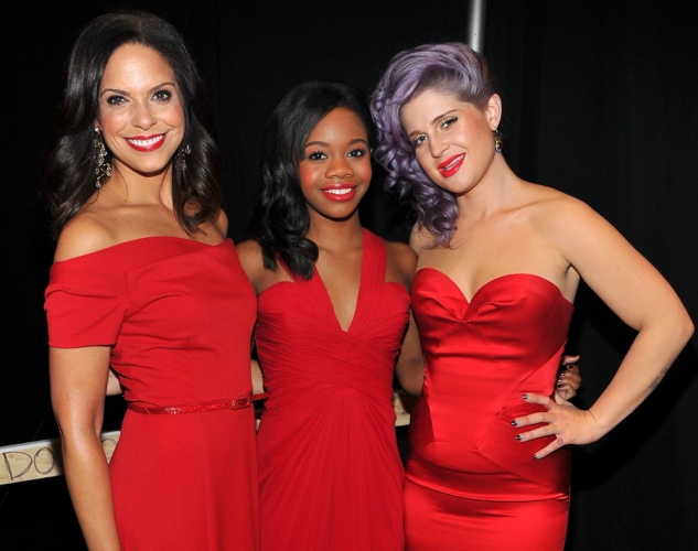 Heart Truth Show Red dress show / NYFW 2013 Solided O'brian, Gabby Douglas and Kelly Osbourne