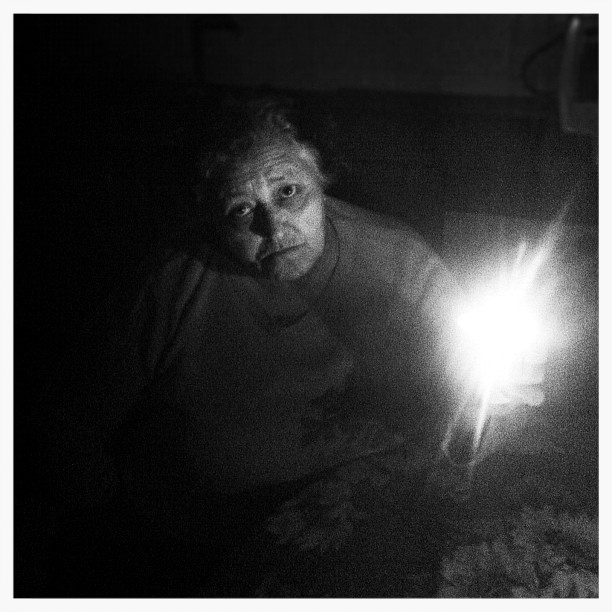 My Grandma during a blackout.