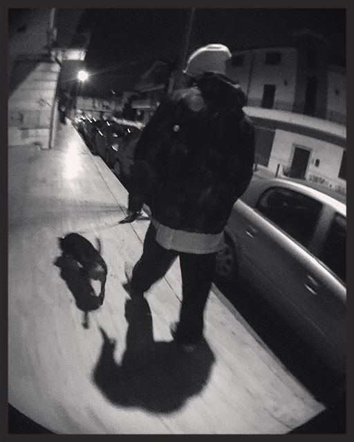 Late night Street Photography session in the outskirts of Rome. Every time I see someone with a dog I wish I could adopt one, and start walking around with someone.