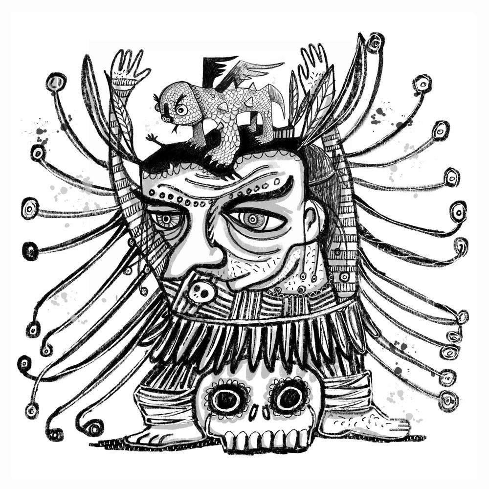 Shamen, Lizard, Skull.jpg