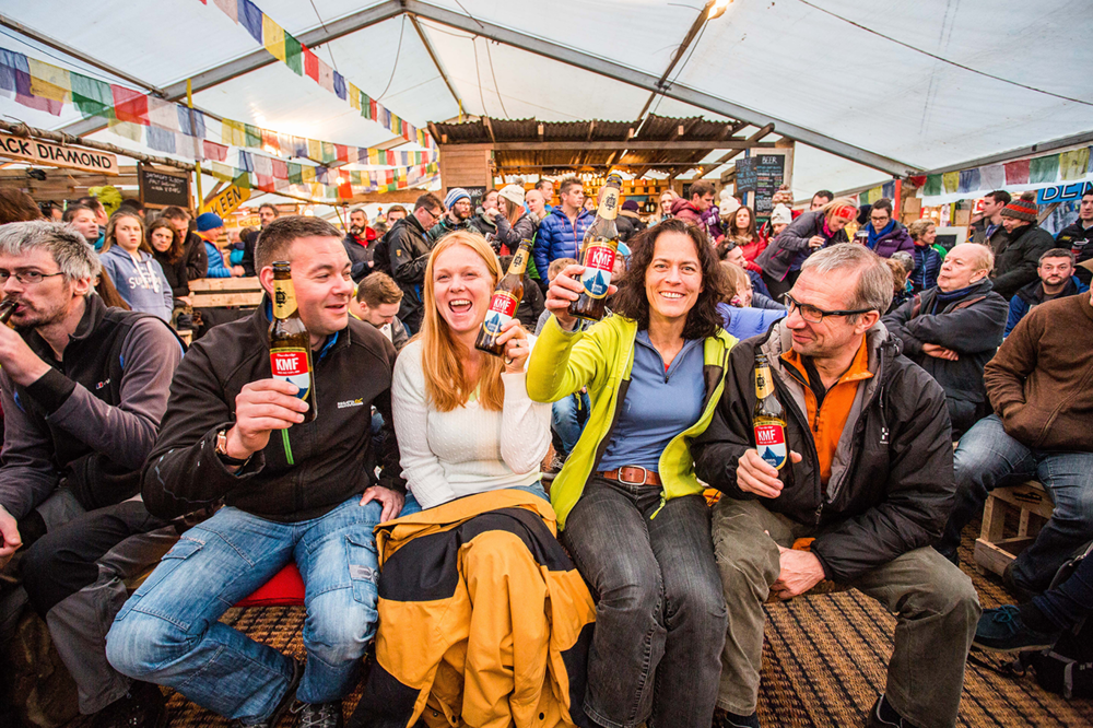 Happy visitors to Kendal Mountain Festival Basecamp in 2015: Kendal Mountain Festival