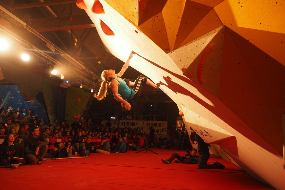 Shauna Coxsey on her way to another CWIF title. Credit: Band of Birds