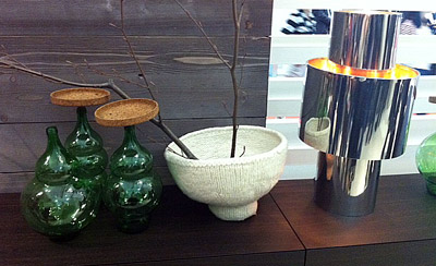 Green Hand Blown Glass Vases