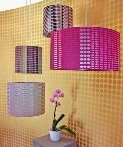 Lamp shades with Orchid