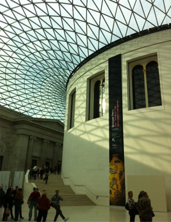 The inside of the British Museum - London