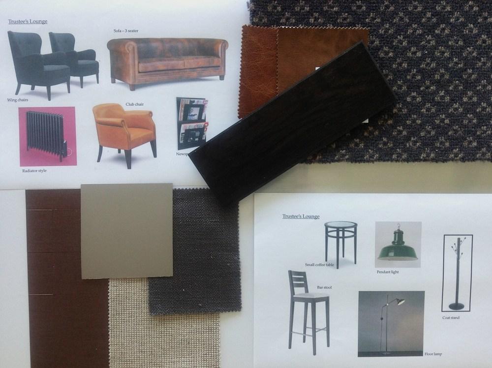 Trustee's Lounge materials