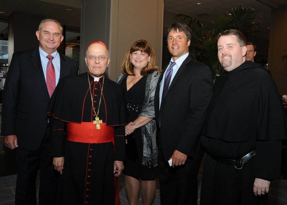 CHICAGO, IL (2013): Cardinal Francis George, O.M.I. at the Augustinian Inaugural Gala with members of the St. Rita High School family
