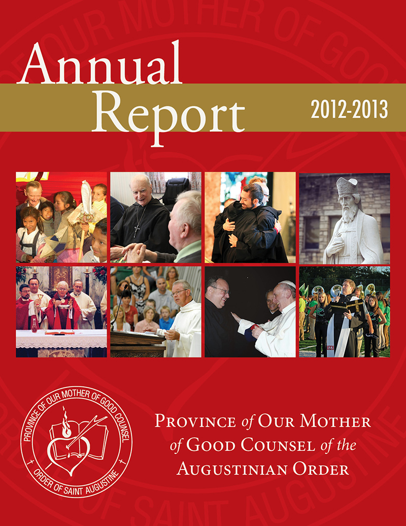 Click on the image to download the 2012-2013 Annual Report for the Augustinians.