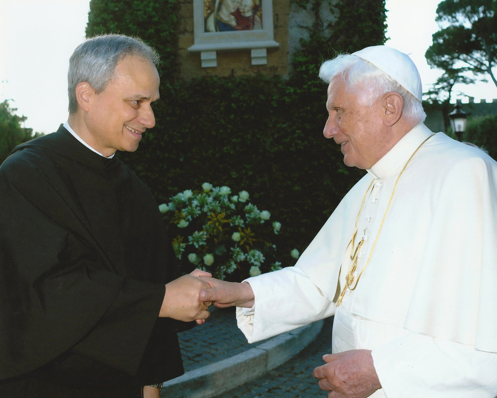 ROME, ITALY:  Fr. Bob Prevost, O.S.A. with His Holiness Pope Benedict XVI