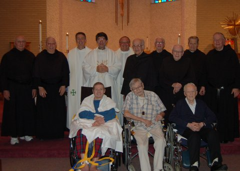 The Prior General of Augustinians Visited the Retired and infirm friars in Crown Point, Indiana