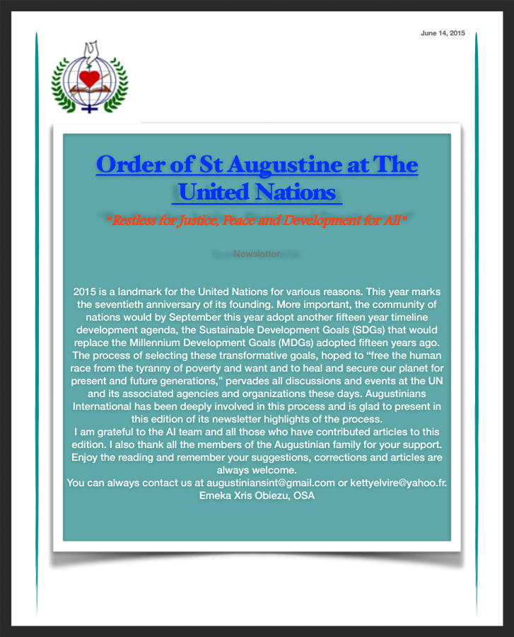 Augustinians International June Newsletter
