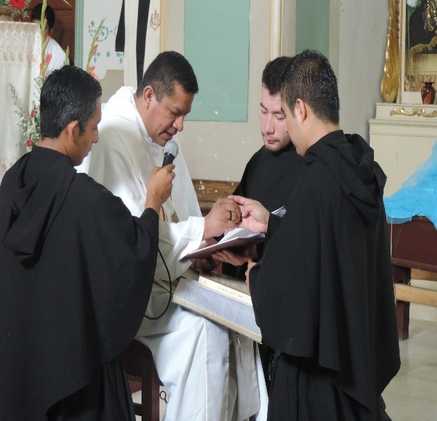 Brother Martin Arraiza, O.S.A. (right), professed his solemn vows as an Augustinian in May 2015