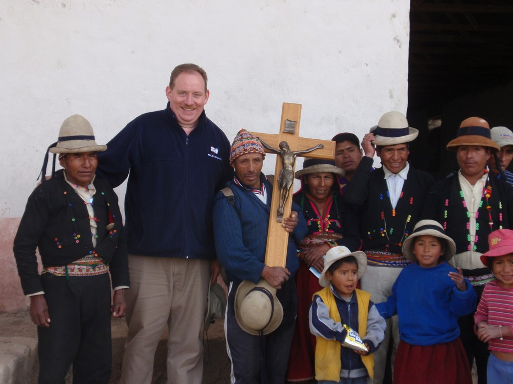Fr. Chris Steinle, OSA, is an Augustinian missionary presently serving in Quito, Ecuador. He has previously also served in Peru  (as seen here) and Bolivia