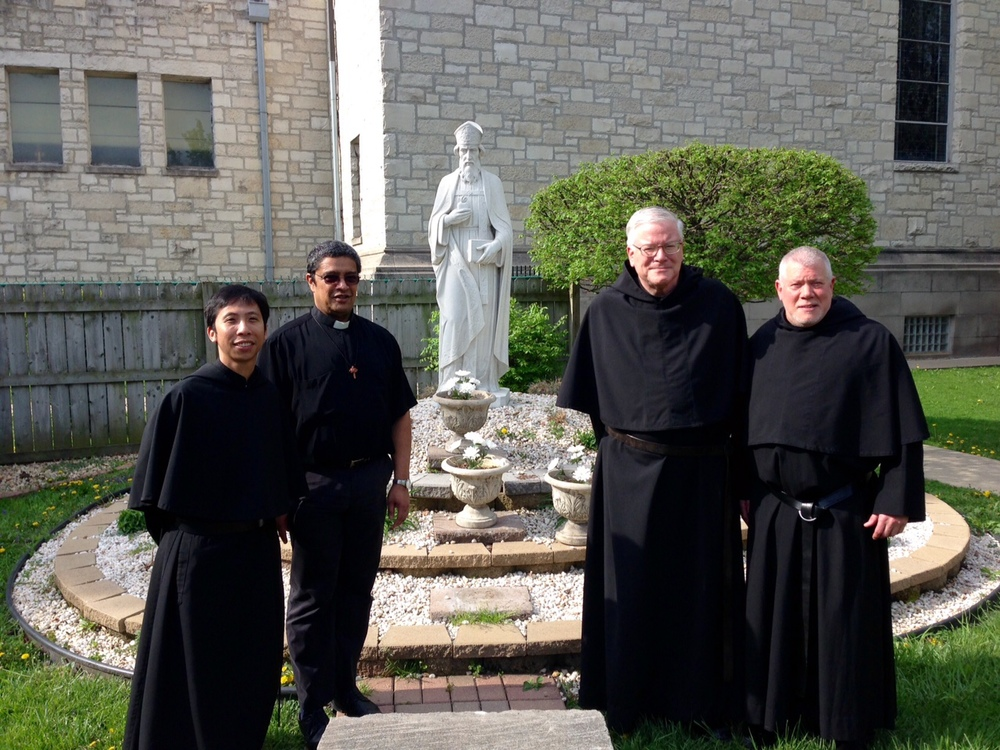 Brother Richie Mercado, OSA (left) is a member of the Augustinian Community of St. Rita Parish in Chicago.  He will continue to work at the parish as he prepares for his anticipated next stages of formation:  ordinations as a deacon and then as a priest.