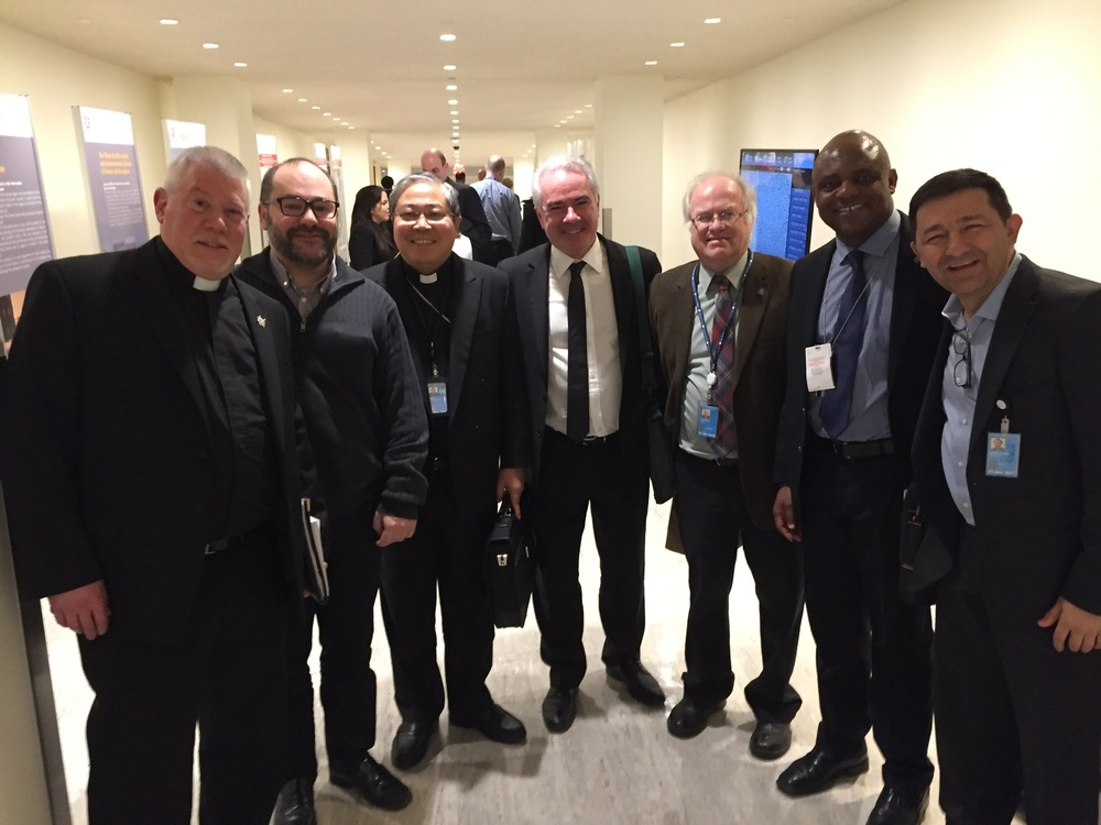 The Augustinians International team with Archbishop Auza from the Holy See Mission
