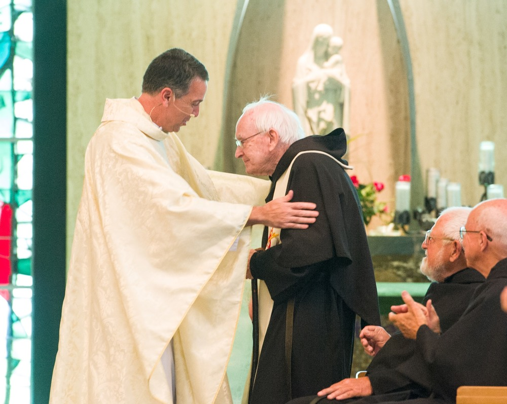 Fr. John Flynn, O.S.A., was honored for his 70th anniversary of his profession of vows in the Augustinian Order