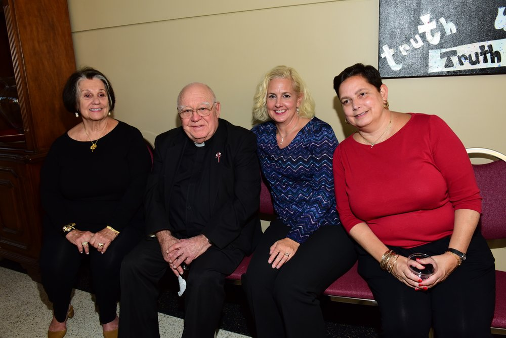Fr. Bill Perez and friends at the Tulsa reception celebrating his 60 years as an Augustinian