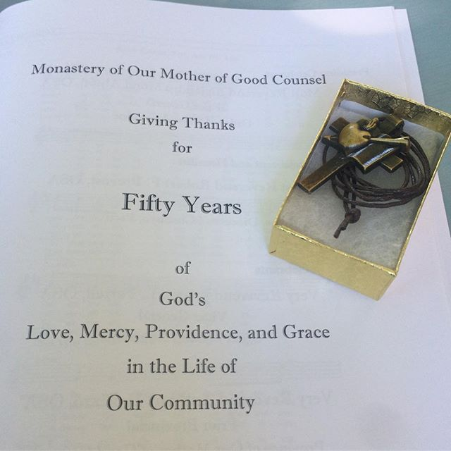 Today the contemplative  Augustinian Sisters at the monastery of Our Mother of Good Counsel Celebrate 50 Years. Many great pictures to follow this week. #anniversary #monastery #abbey #nuns
