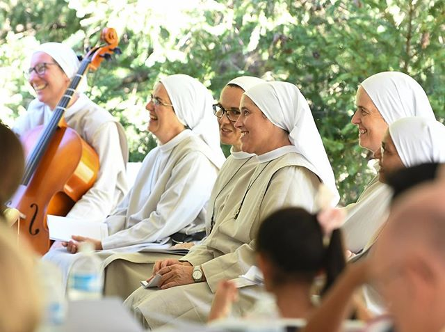 Augustinian Sisters from Europe joined the Community of Our Mother of Good Counsel in New Lenox for the Celebration of their 50th Anniversary #nuns #contemplation #catholic #prayer #mass #monastery #augustinian #faith #joy #blessed #smiles