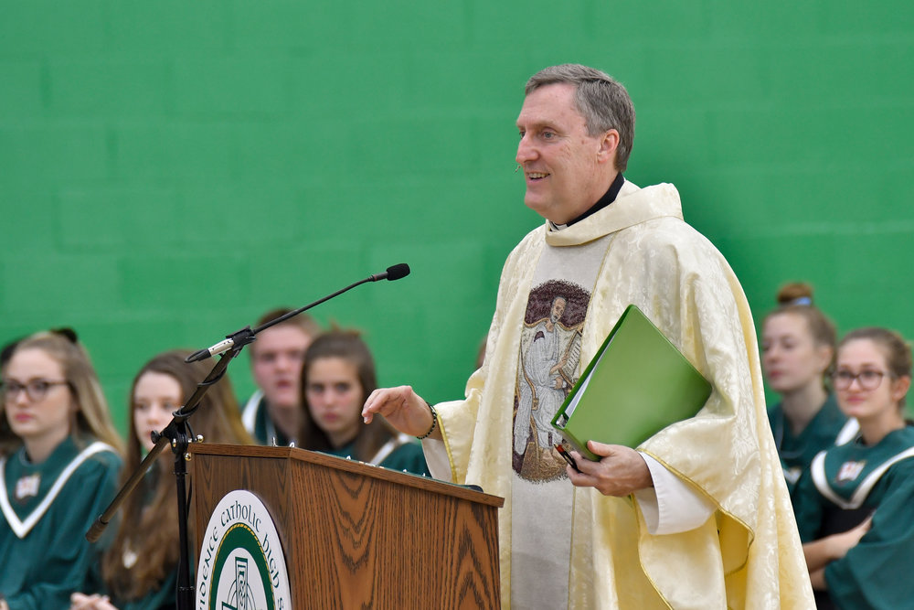 Rev. John Merkelis, O.S.A. was appointed principal of Providence Catholic High School in 2018