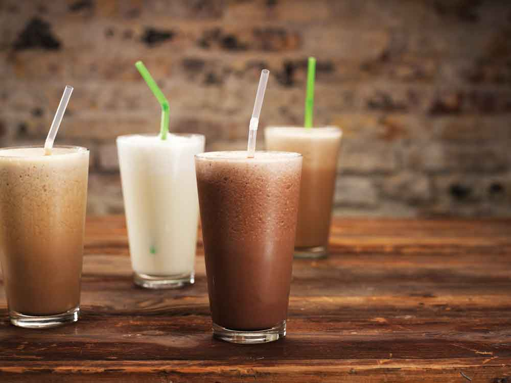 Chai Frappe - oranguchai cooler - 1) Pour 8oz of Milk or Mylk in a blender.2) Add 4 scoops of organic Vanilla ice.3) Add 3-4 teaspoons of Mumbai Railway Chai.4) Add 3-4 ice cubes and blend.  Serve in a glass. Enjoy!Why not add a banana, or at least half of a banana - It's called a Oranguchai Cooler...