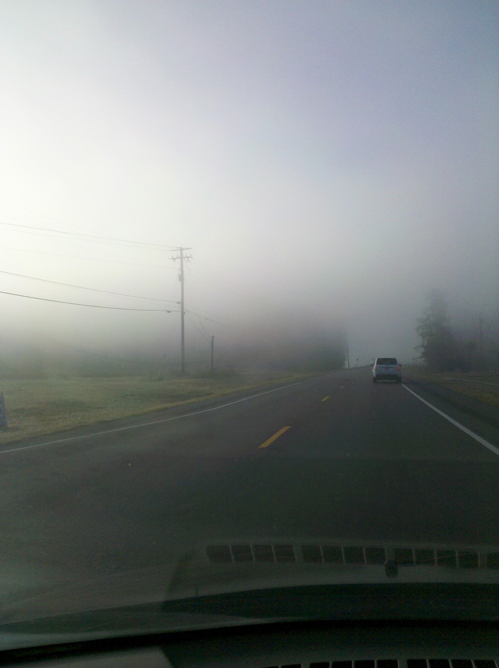 Pictures of fog on the water in Ohatchee, AL