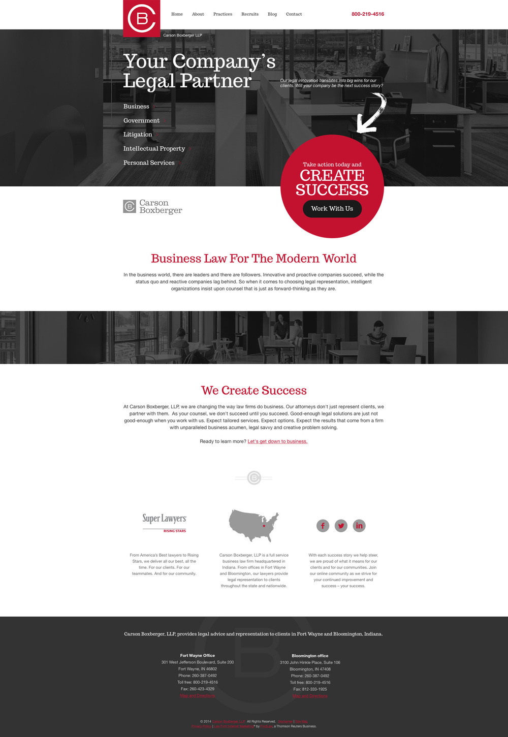 Carson Boxberger Website Design