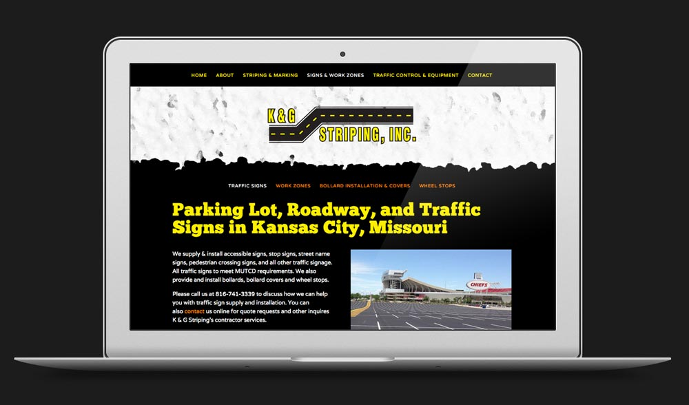 K & G Striping Website Design