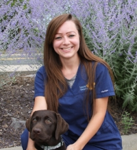 Dani is from Wisconsin. She moved to Colorado in 2015. Dani has worked in veterinary medicine for  8 years. Her favorite part of veterinary medicine is building lasting relationships with clients. When not at work Dani enjoys exploring the beautiful hiking trails that Colorado has to offer. She shares her home with her husband, daughter, a  dog and two cats.
