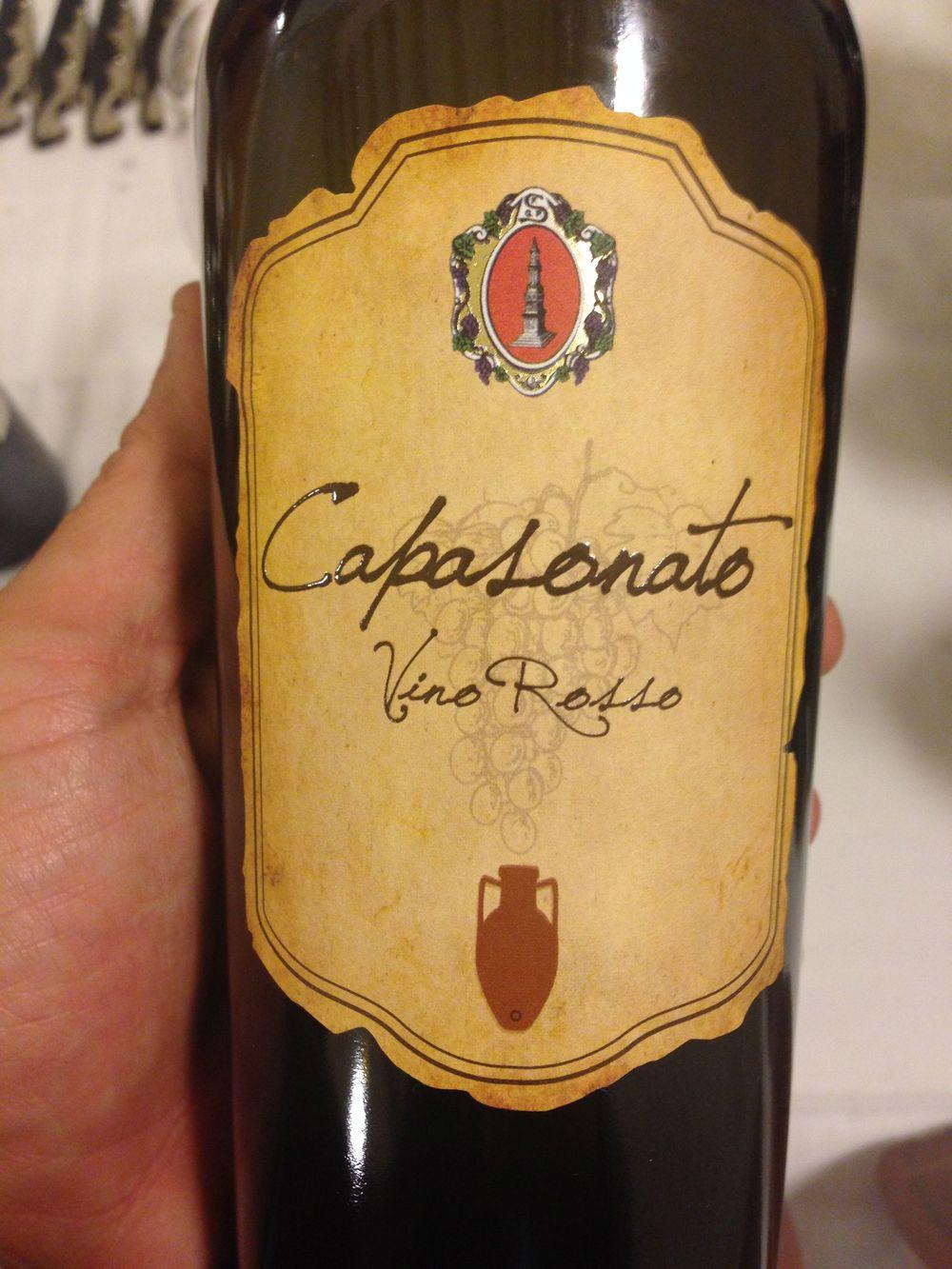 L'etichetta del Capasonato Vino Rosso 1984/85