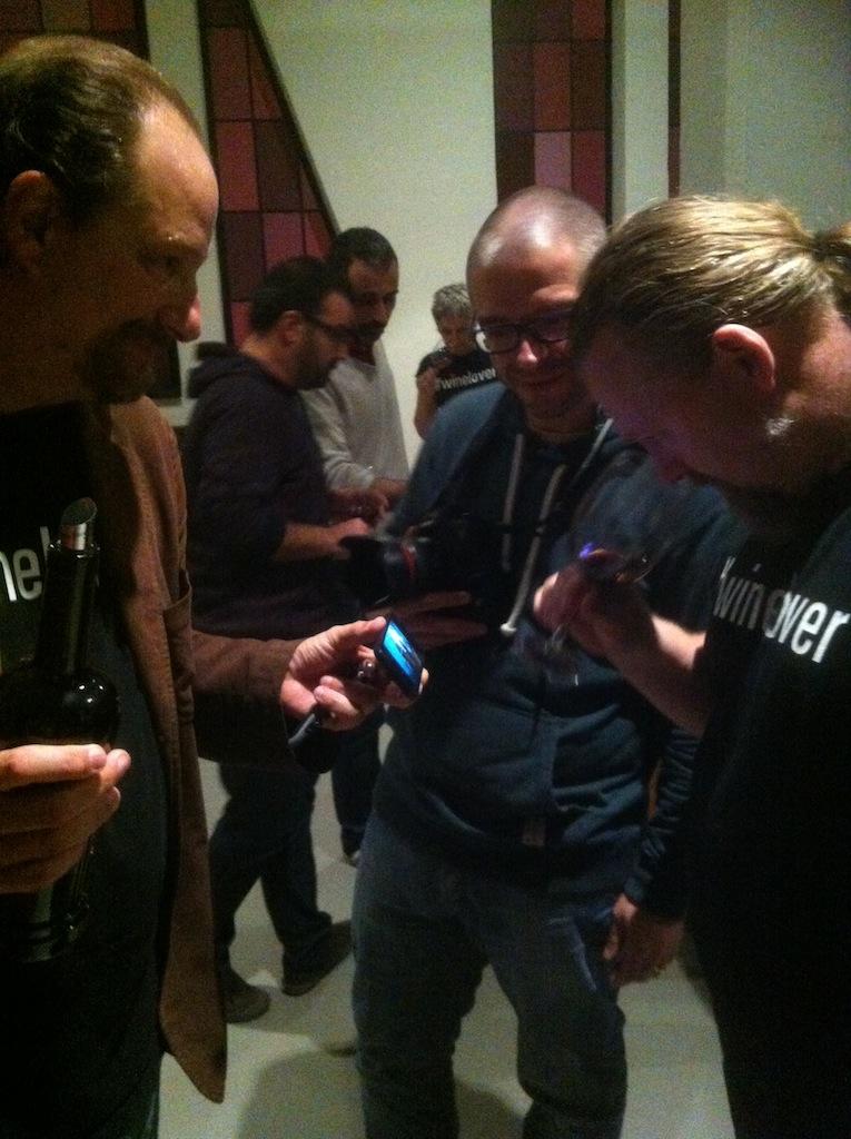 Con Ricardo Bernardo (in mezzo) e Magnus Reuterdahl (destra)