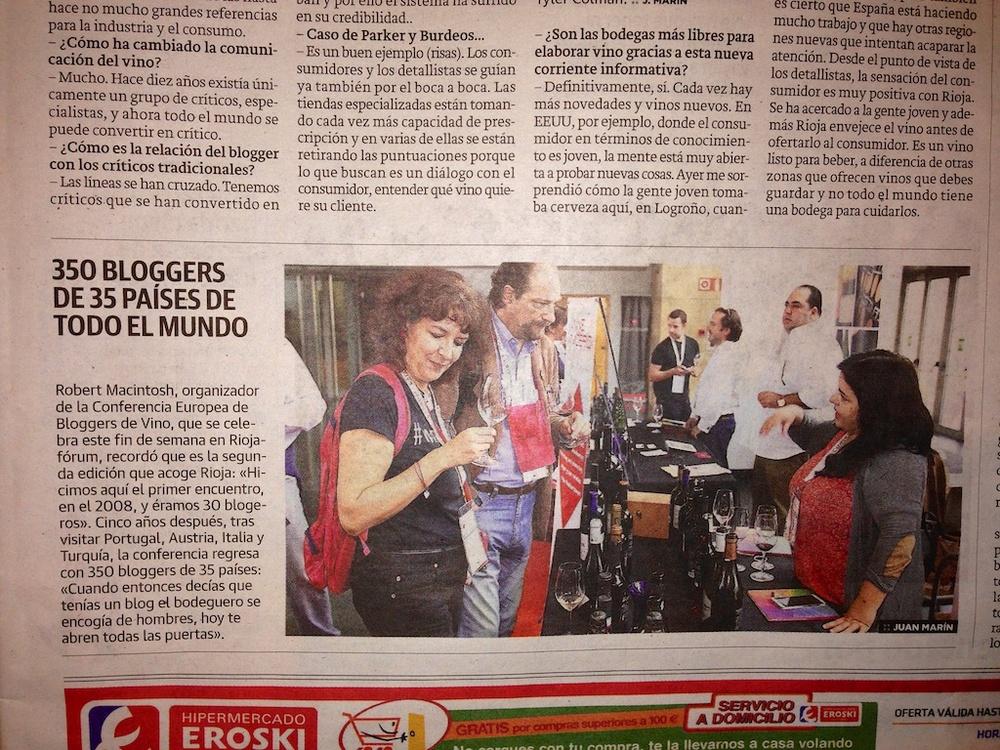 Sulla stampa spagnola... :-)