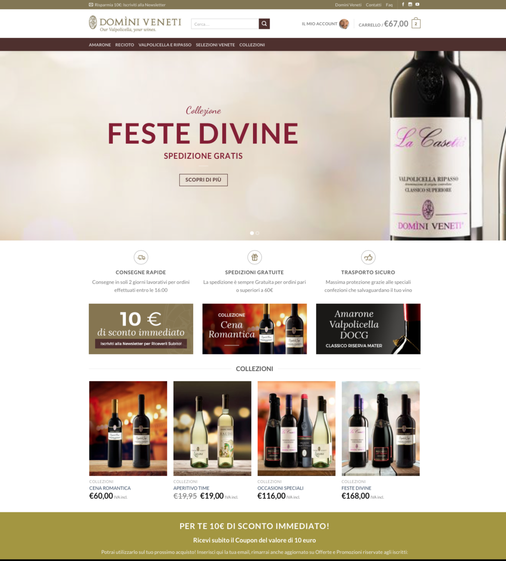Il wine shop di domini veneti