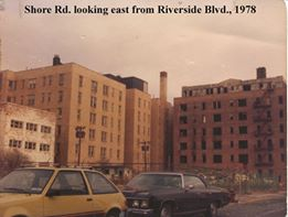 Shore Road Looking East  & Riverside Blvd 1978