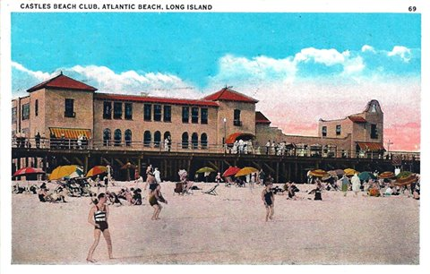 Post Cards Atlantic Beach Club Castles 1969