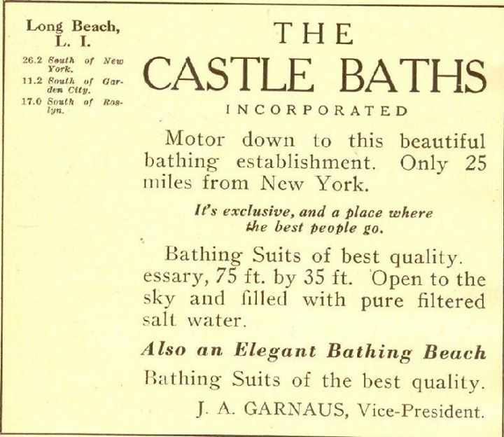 Castle Baths Ad