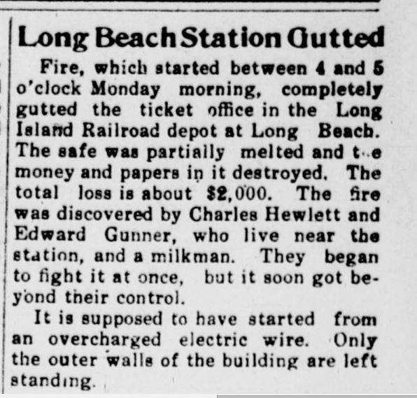 Long Beach Train Station Fire Nassau Review, November 17, 1911..jpg