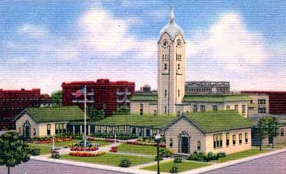 Long Beach City Hall  Old Clock Tower Color Post Card.jpg