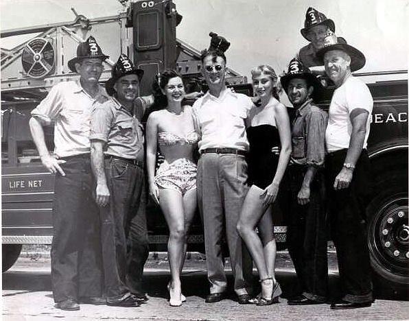 Fire Dept Harold Stretch Sondergaard Manny Liguori City Councilman James Segriff Sam Vukas George Butler Jerry Burke 1951.jpg