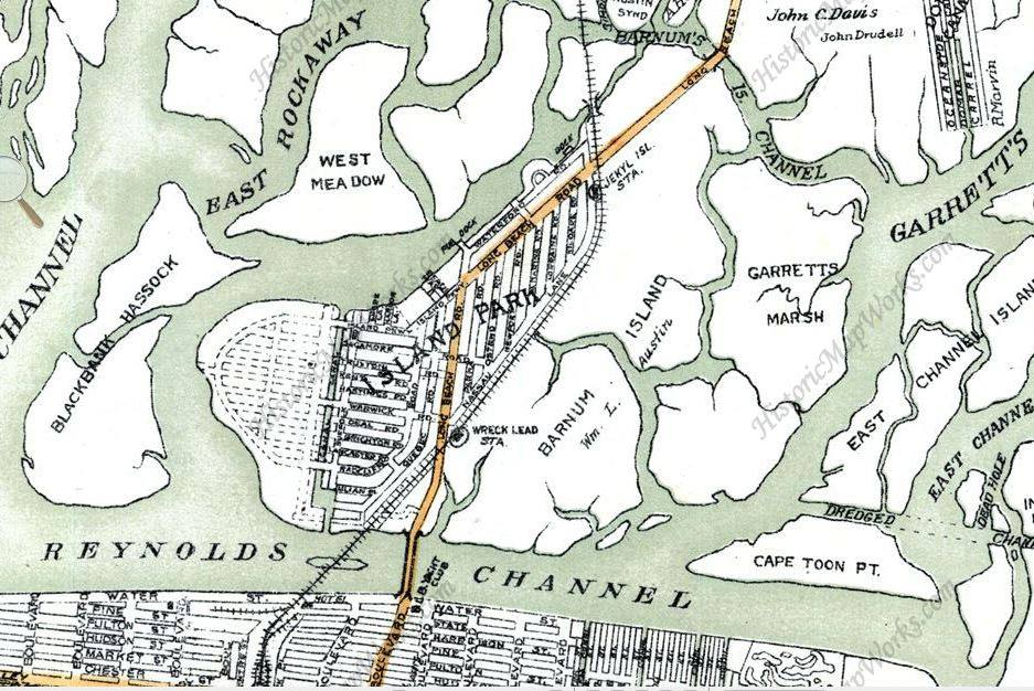 Reynolds Channel Map Harbor Isle Island Park 1927.jpg