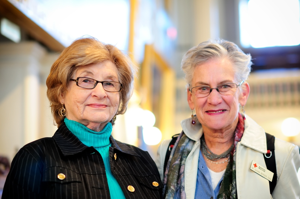 Susan Berger and Holocaust Survivor, Daisy Brand