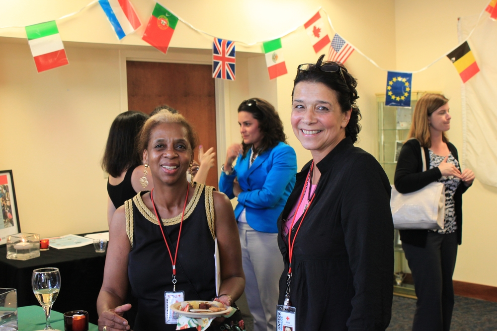 From left to right: Vera Vicente-Meek, Red Cross Disaster Volunteer; Nancy Hess, RFL Caseworker and Outreach Lead