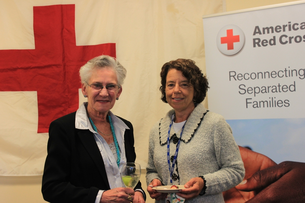 From left to right: Dr. Susan Berger, International Services Volunteer and long time RFL Caseworker; Dr. Mio Leavitt, International Services Volunteer and long time RFL Caseworker
