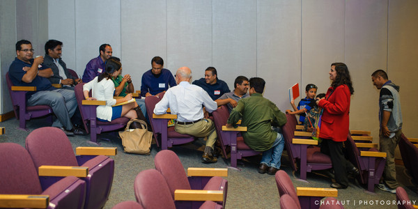 Breakout group at Himalayan event