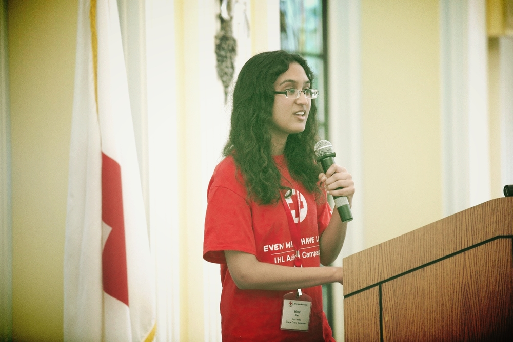 Hetal presents her IHL Action Campaign during this year's IHL Youth Summit at American Red Cross Headquarters in Washington, DC.