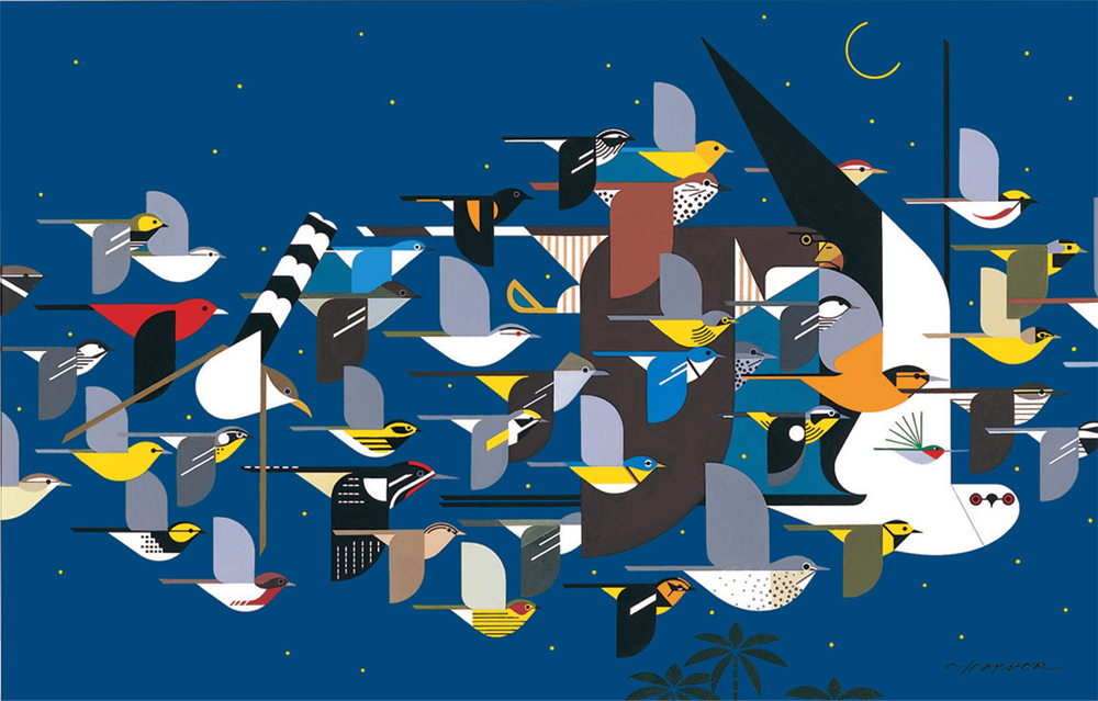 """""""Mystery of the Missing Migrant"""" copy by Charlie Harper prints"""